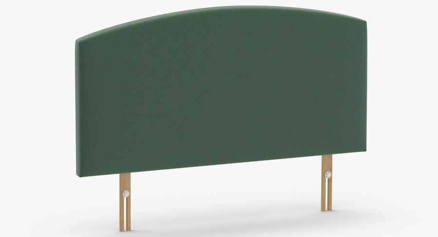 Headboard 11 Mint royalty-free 3d model - Preview no. 3