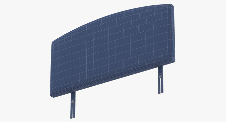 Headboard 11 Mint royalty-free 3d model - Preview no. 17