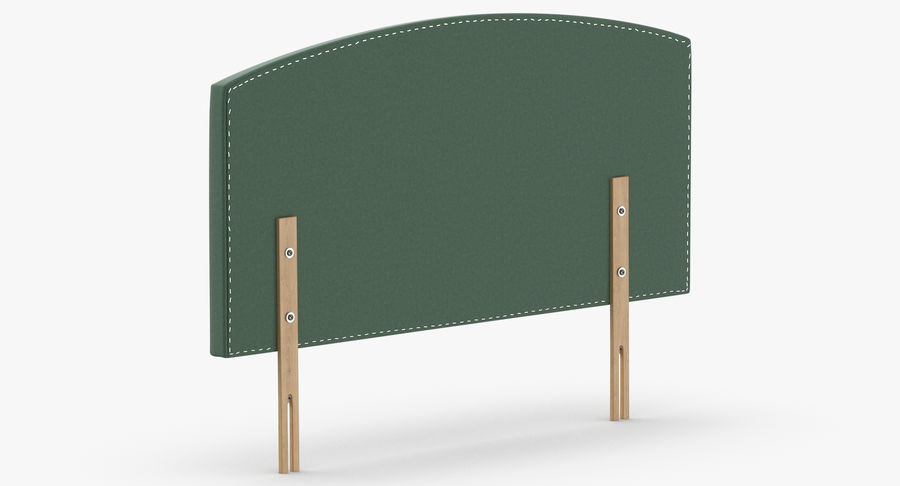 Headboard 11 Mint royalty-free 3d model - Preview no. 6