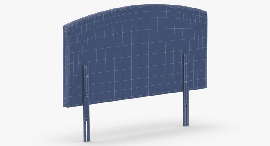 Headboard 11 Mint royalty-free 3d model - Preview no. 14