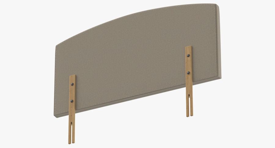 Headboard 11 Oatmeal royalty-free 3d model - Preview no. 8