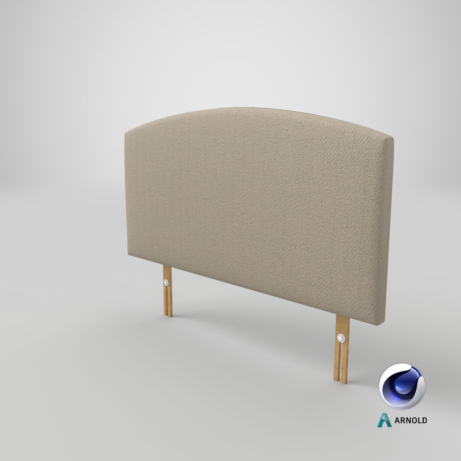 Headboard 11 Oatmeal royalty-free 3d model - Preview no. 23