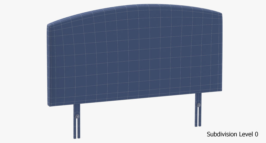Headboard 11 Oatmeal royalty-free 3d model - Preview no. 18