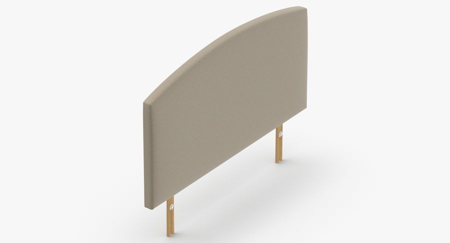 Headboard 11 Oatmeal royalty-free 3d model - Preview no. 7