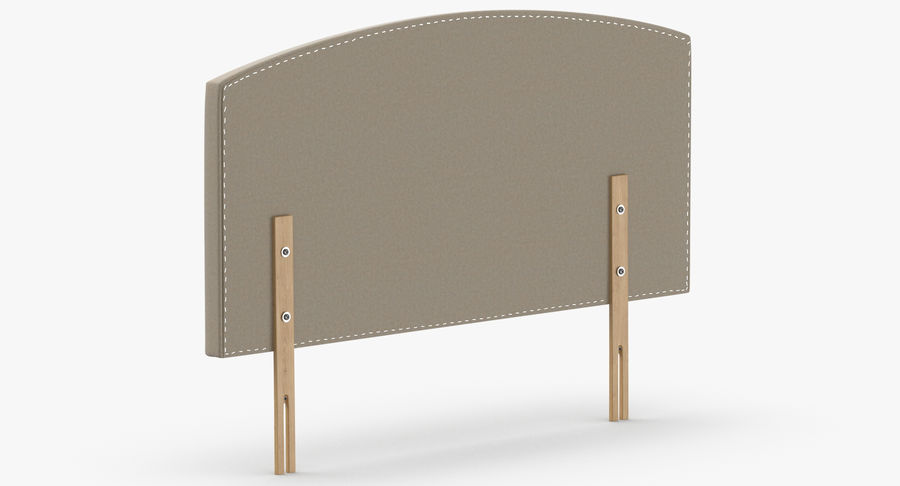 Headboard 11 Oatmeal royalty-free 3d model - Preview no. 6