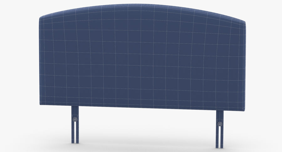 Headboard 11 Oatmeal royalty-free 3d model - Preview no. 13