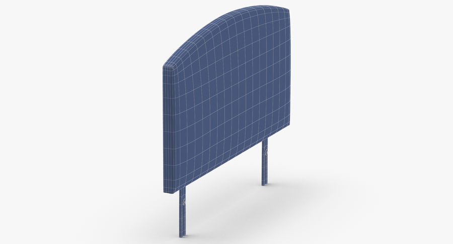 Headboard 11 Oatmeal royalty-free 3d model - Preview no. 12