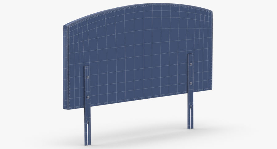 Headboard 11 Oatmeal royalty-free 3d model - Preview no. 14