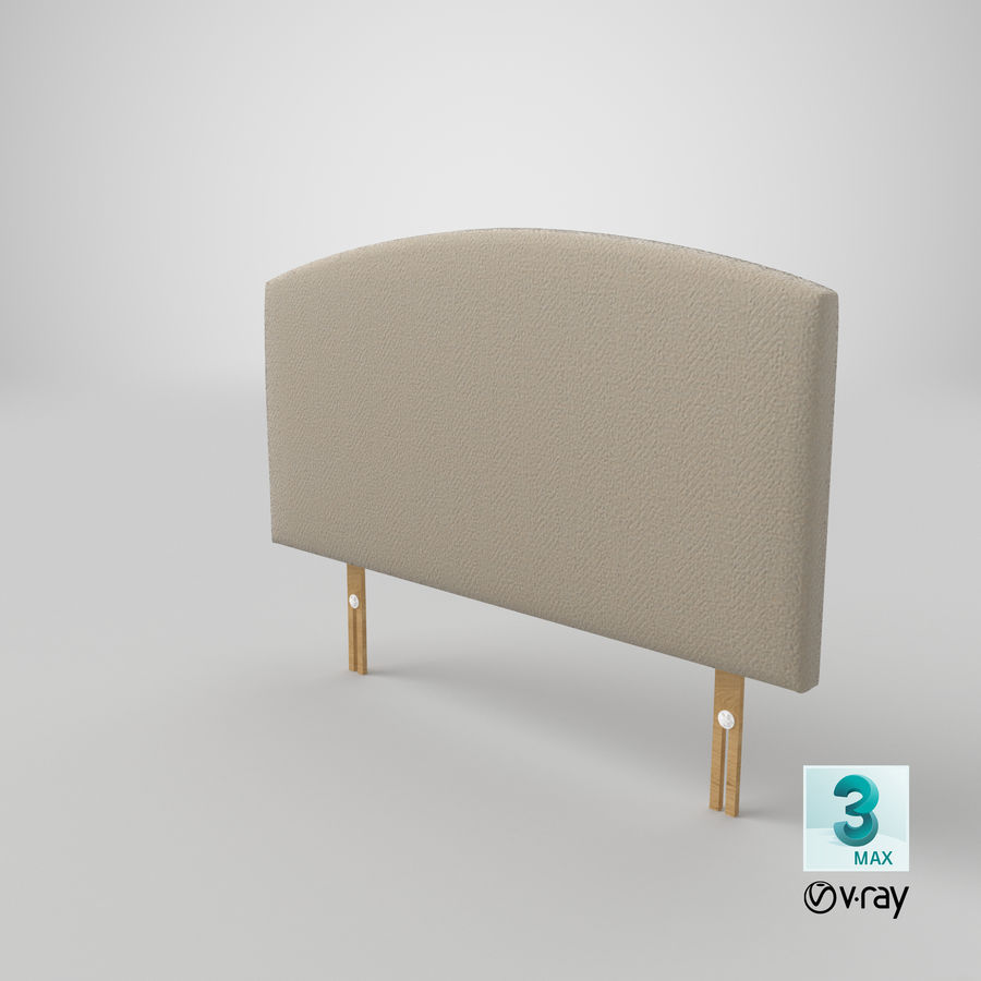 Headboard 11 Oatmeal royalty-free 3d model - Preview no. 26