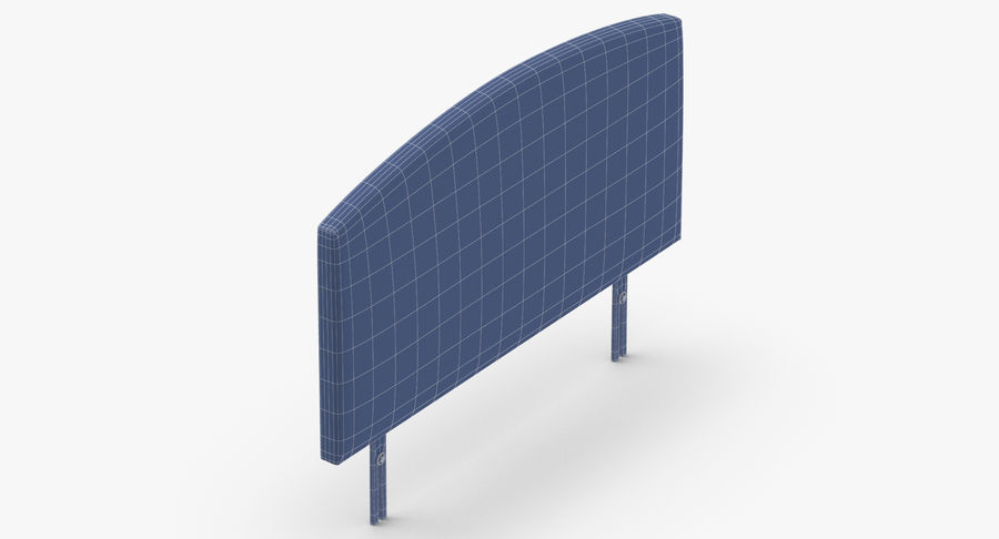 Headboard 11 Oatmeal royalty-free 3d model - Preview no. 15