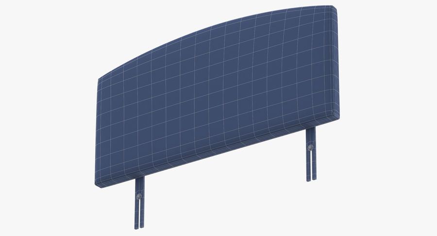 Headboard 11 Oatmeal royalty-free 3d model - Preview no. 17