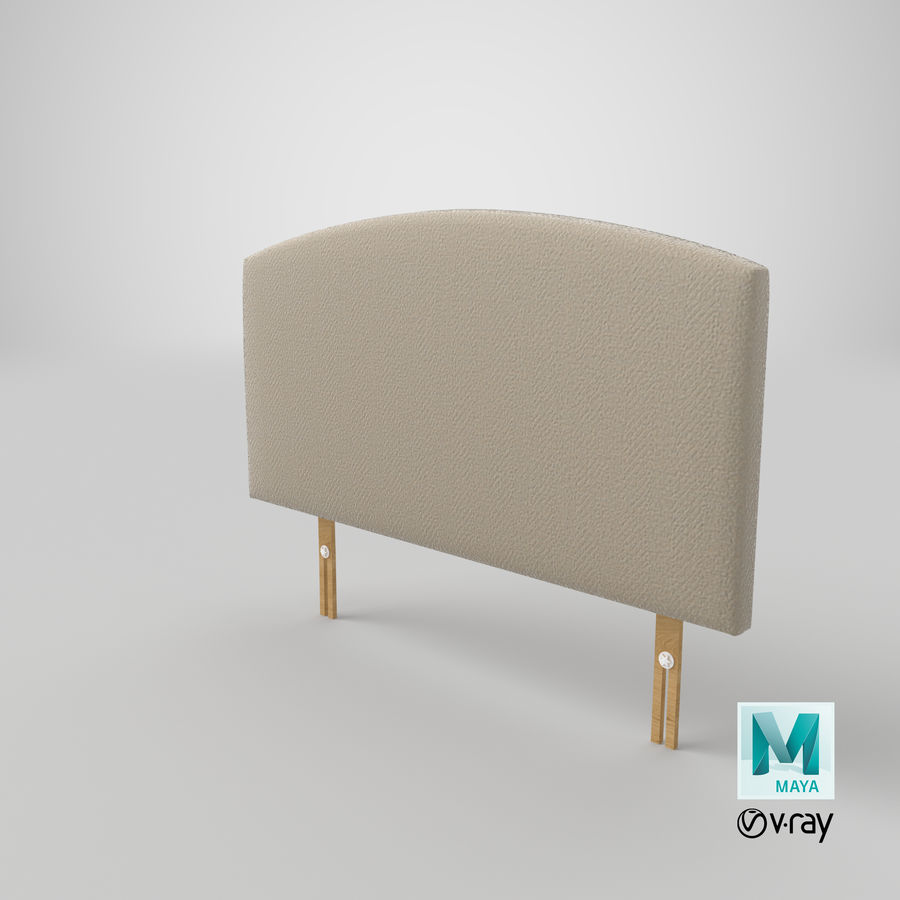 Headboard 11 Oatmeal royalty-free 3d model - Preview no. 29