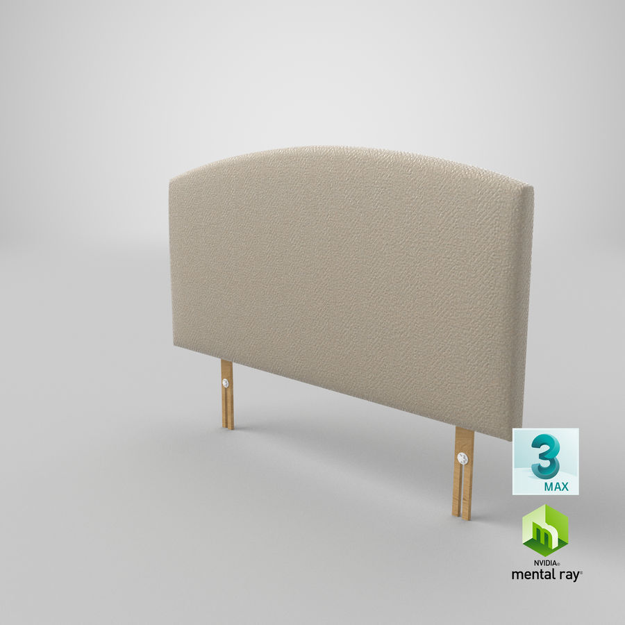 Headboard 11 Oatmeal royalty-free 3d model - Preview no. 25