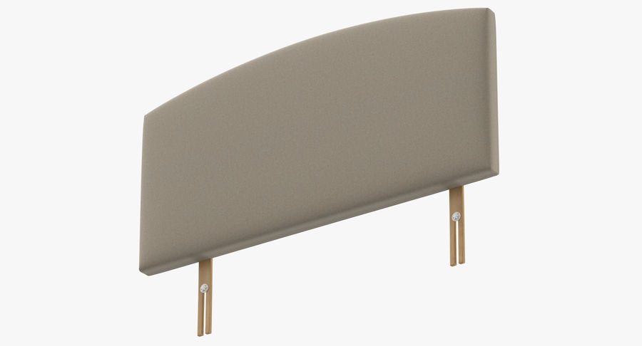 Headboard 11 Oatmeal royalty-free 3d model - Preview no. 9