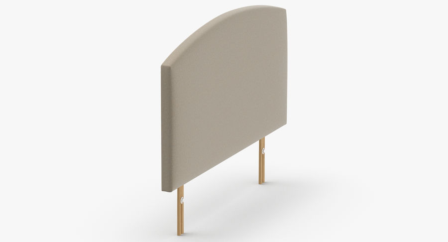 Headboard 11 Oatmeal royalty-free 3d model - Preview no. 4
