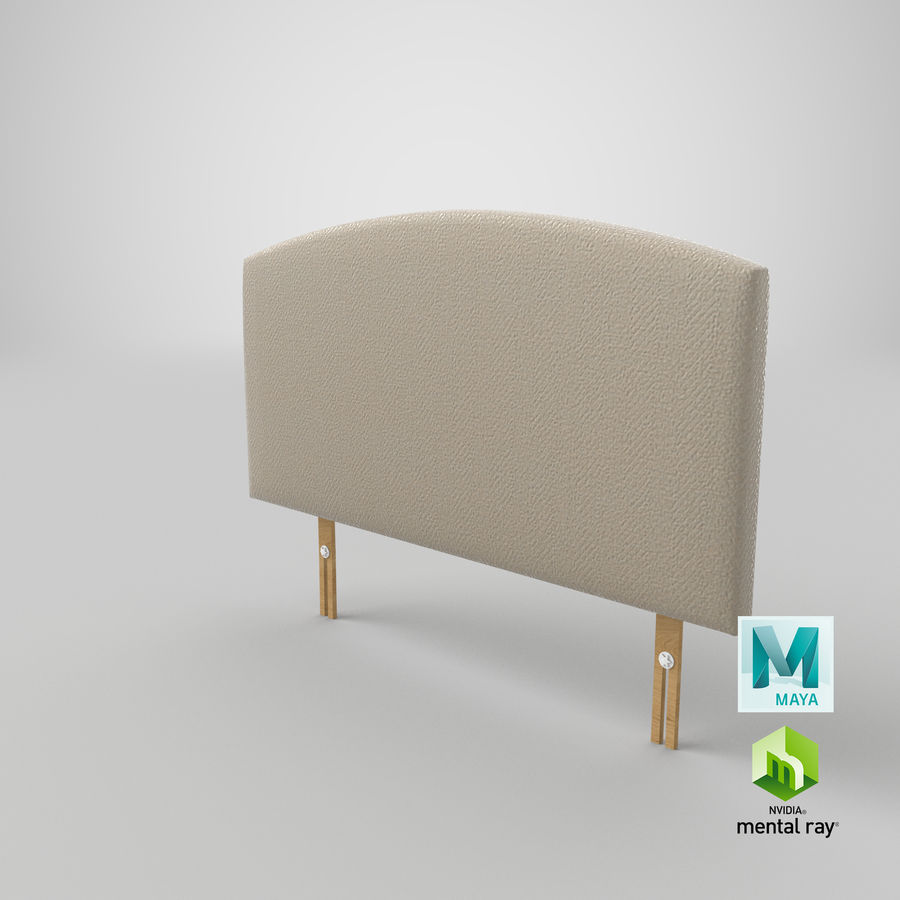 Headboard 11 Oatmeal royalty-free 3d model - Preview no. 28