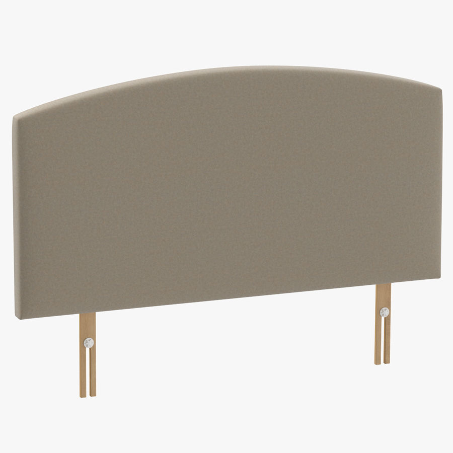 Headboard 11 Oatmeal royalty-free 3d model - Preview no. 1