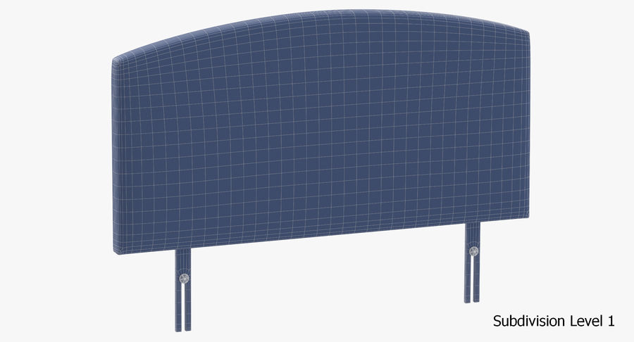 Headboard 11 Oatmeal royalty-free 3d model - Preview no. 19