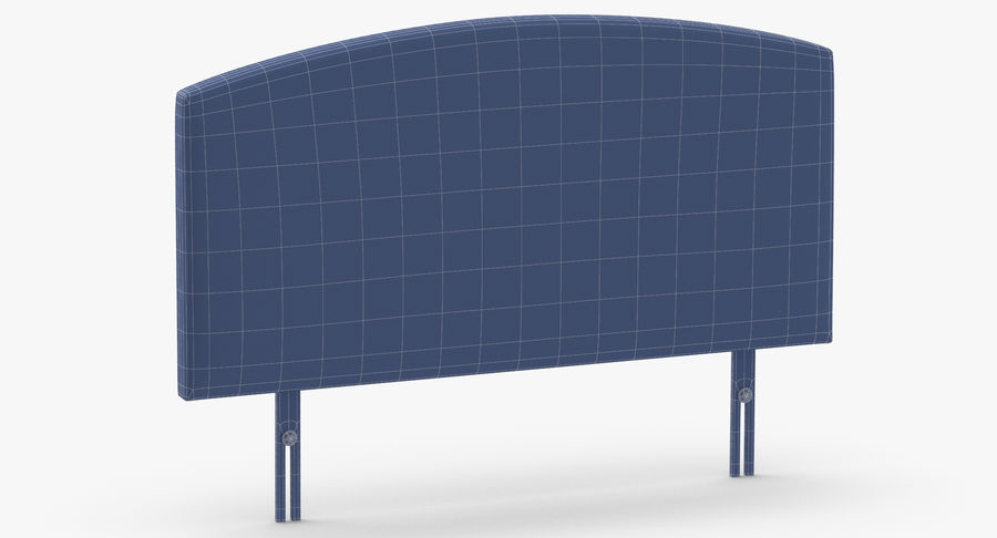 Headboard 11 Oatmeal royalty-free 3d model - Preview no. 11