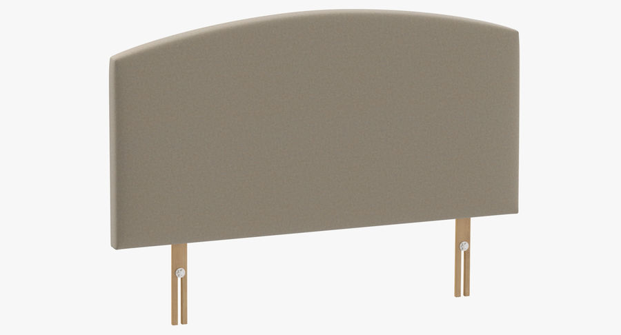 Headboard 11 Oatmeal royalty-free 3d model - Preview no. 2