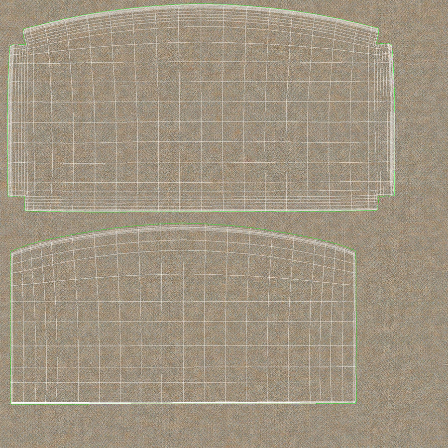 Headboard 11 Oatmeal royalty-free 3d model - Preview no. 21