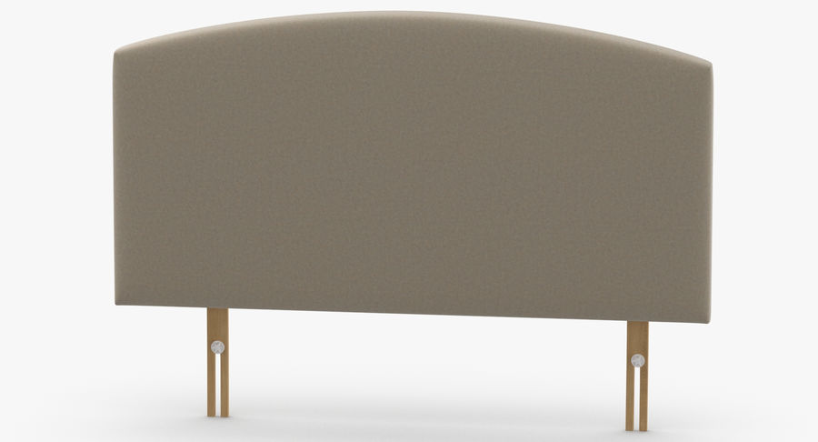 Headboard 11 Oatmeal royalty-free 3d model - Preview no. 5