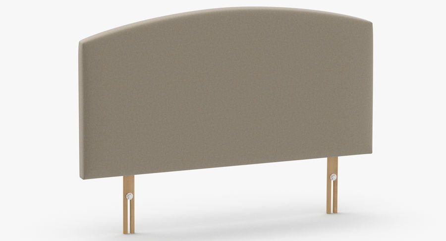 Headboard 11 Oatmeal royalty-free 3d model - Preview no. 3