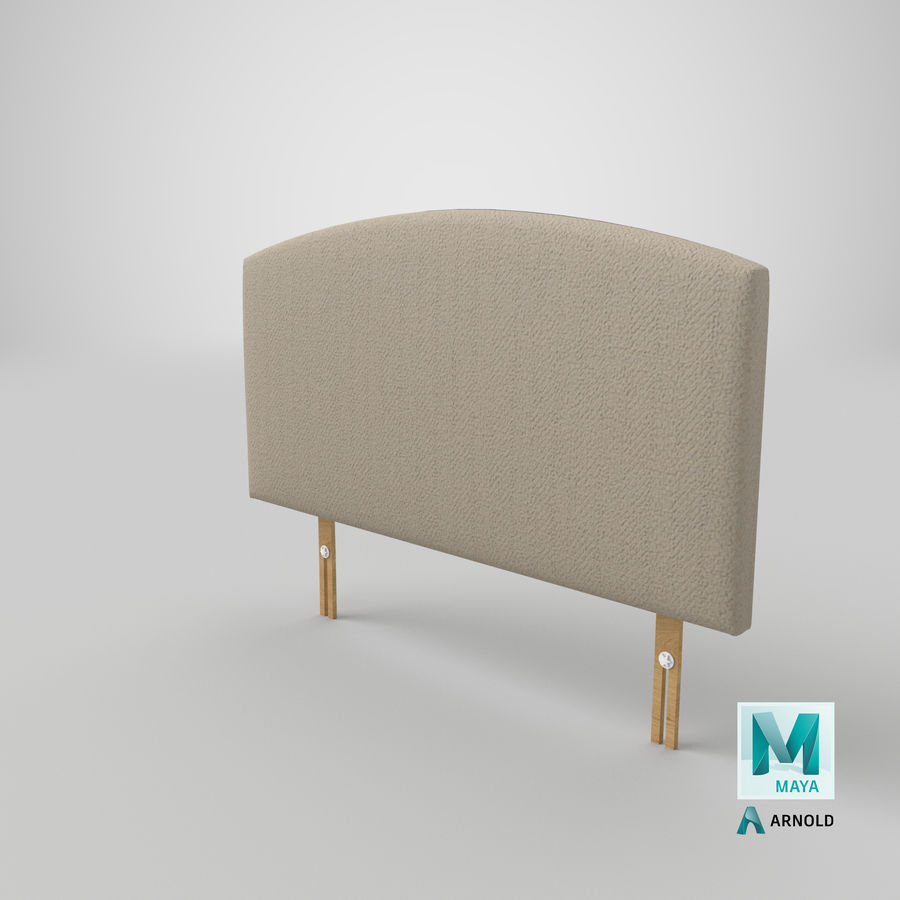 Headboard 11 Oatmeal royalty-free 3d model - Preview no. 27