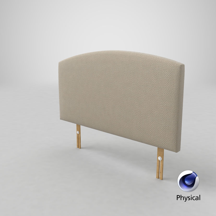 Headboard 11 Oatmeal royalty-free 3d model - Preview no. 22