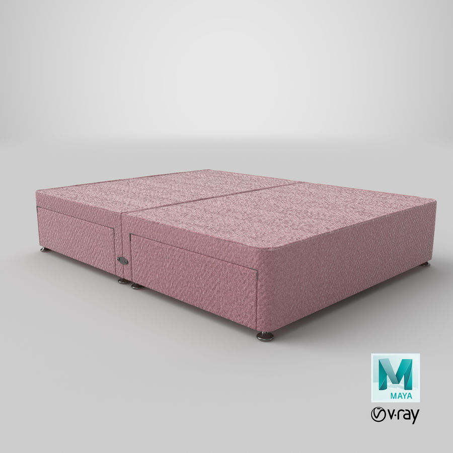 Bed Base 08 Blush royalty-free 3d model - Preview no. 28