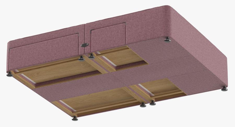 Bed Base 08 Blush royalty-free 3d model - Preview no. 8