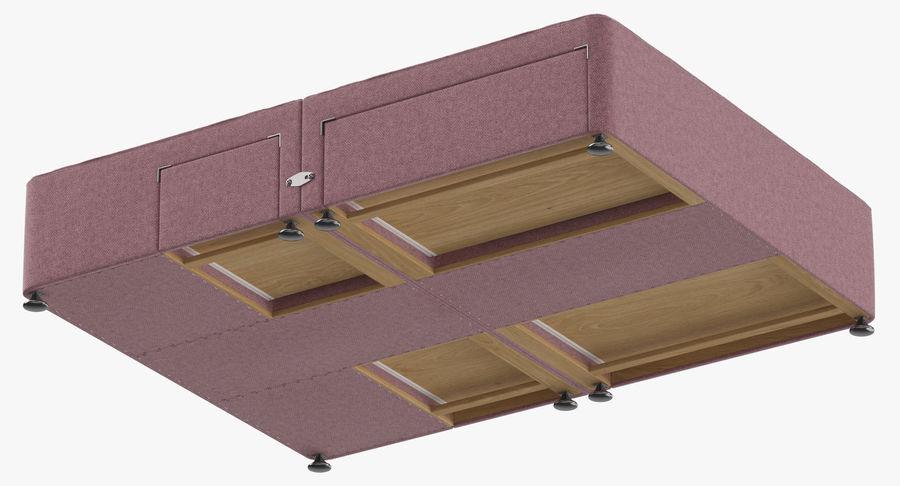 Bed Base 08 Blush royalty-free 3d model - Preview no. 9
