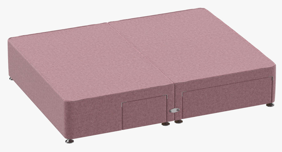 Bed Base 08 Blush royalty-free 3d model - Preview no. 2