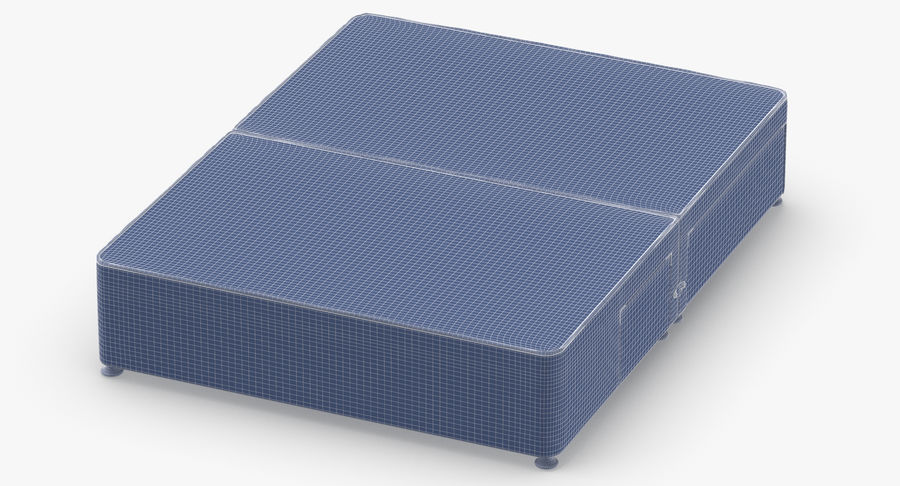 Bed Base 08 Blush royalty-free 3d model - Preview no. 12
