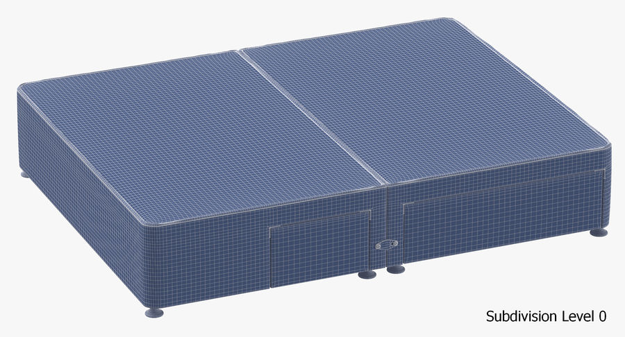 Bed Base 08 Blush royalty-free 3d model - Preview no. 18