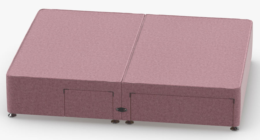 Bed Base 08 Blush royalty-free 3d model - Preview no. 5