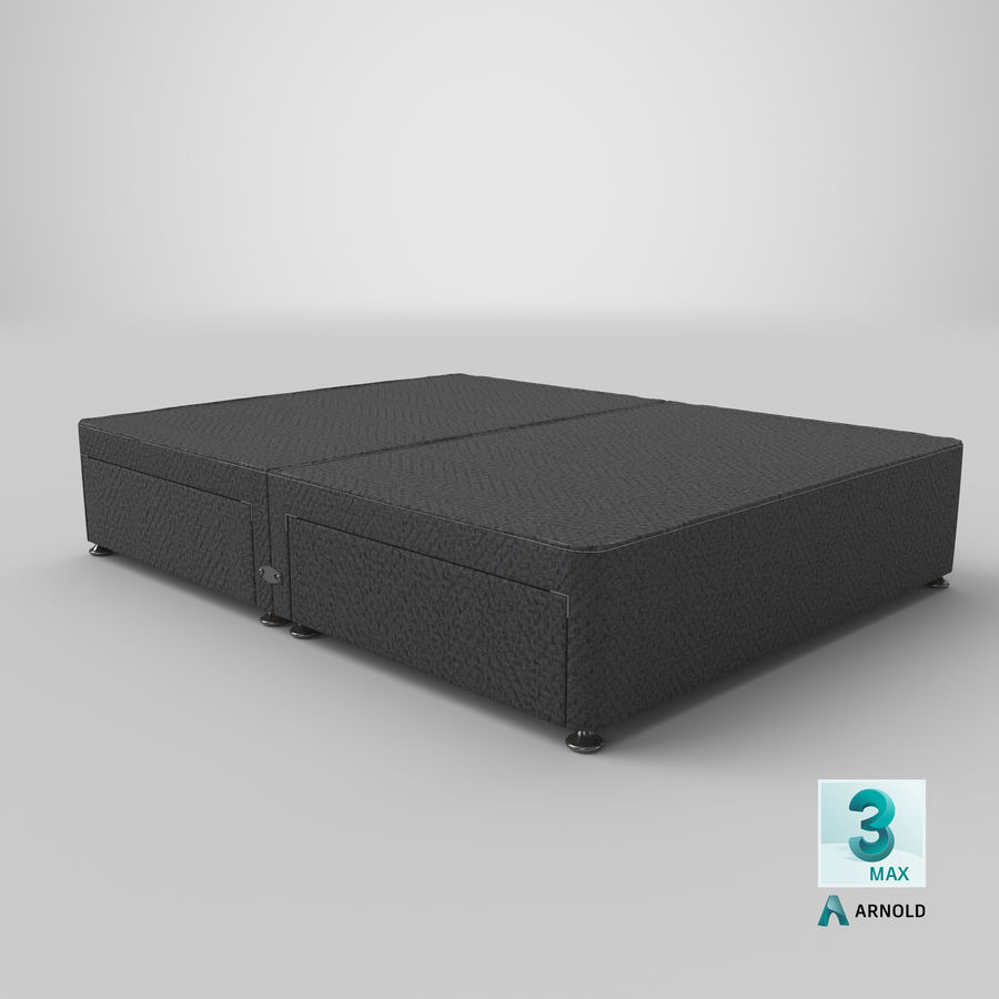 Bed Base 08 Charcoal royalty-free 3d model - Preview no. 23