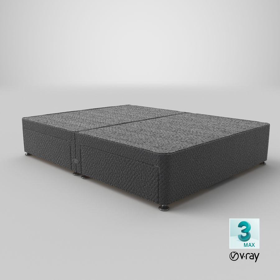Bed Base 08 Charcoal royalty-free 3d model - Preview no. 25