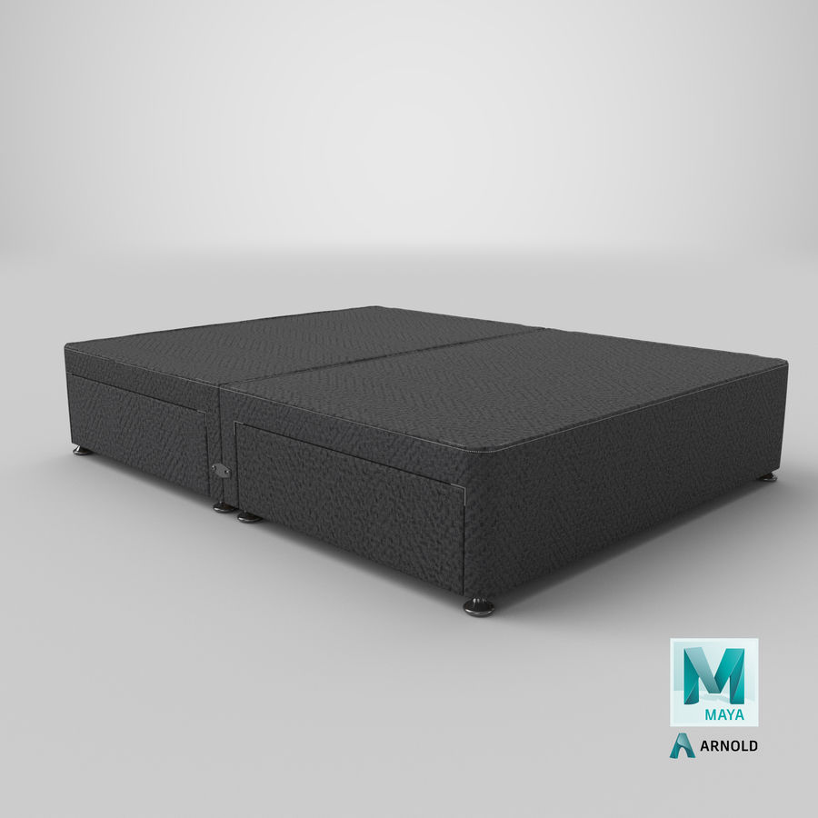 Bed Base 08 Charcoal royalty-free 3d model - Preview no. 26