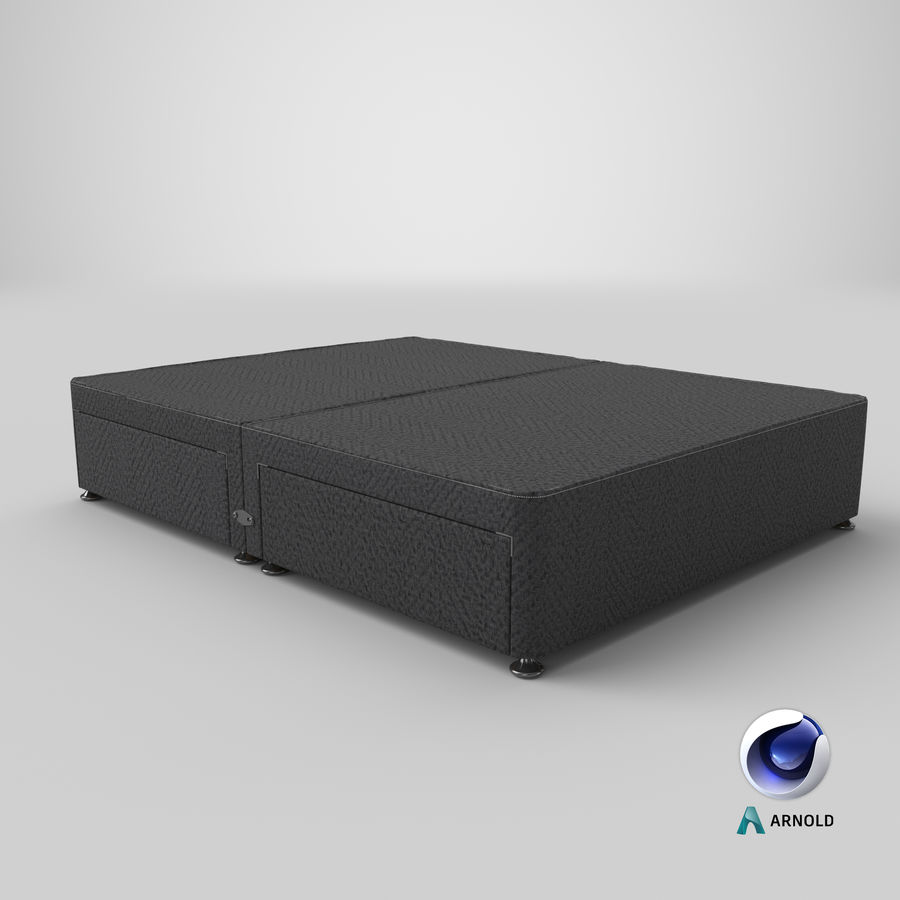 Bed Base 08 Charcoal royalty-free 3d model - Preview no. 22