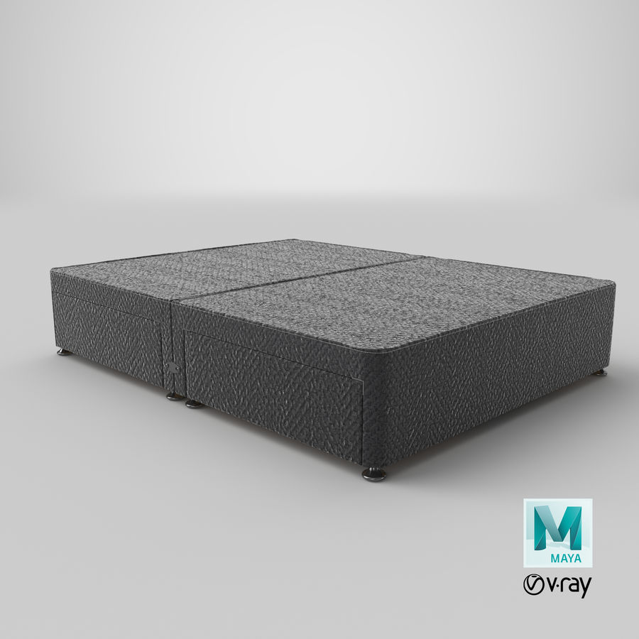Bed Base 08 Charcoal royalty-free 3d model - Preview no. 28