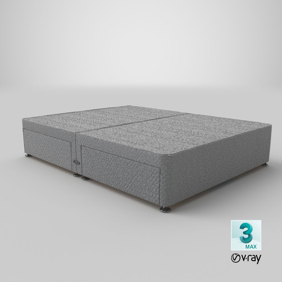 Bed Base 08 Grey royalty-free 3d model - Preview no. 25