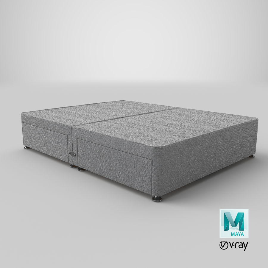 Bed Base 08 Grey royalty-free 3d model - Preview no. 28
