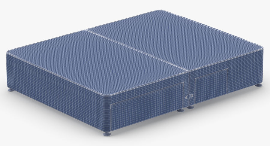 Bed Base 08 Grey royalty-free 3d model - Preview no. 14