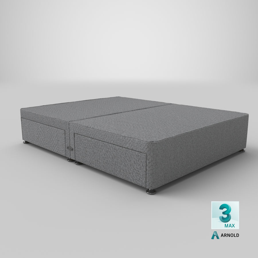 Bed Base 08 Grey royalty-free 3d model - Preview no. 23