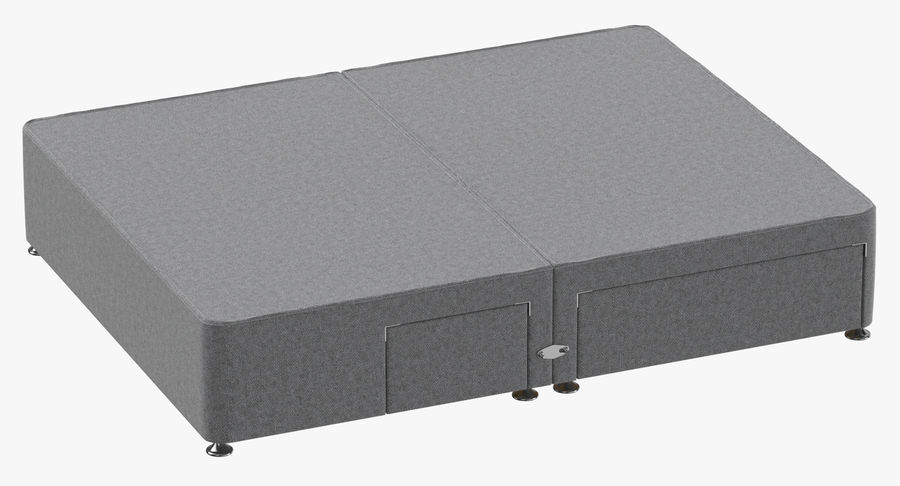 Bed Base 08 Grey royalty-free 3d model - Preview no. 2