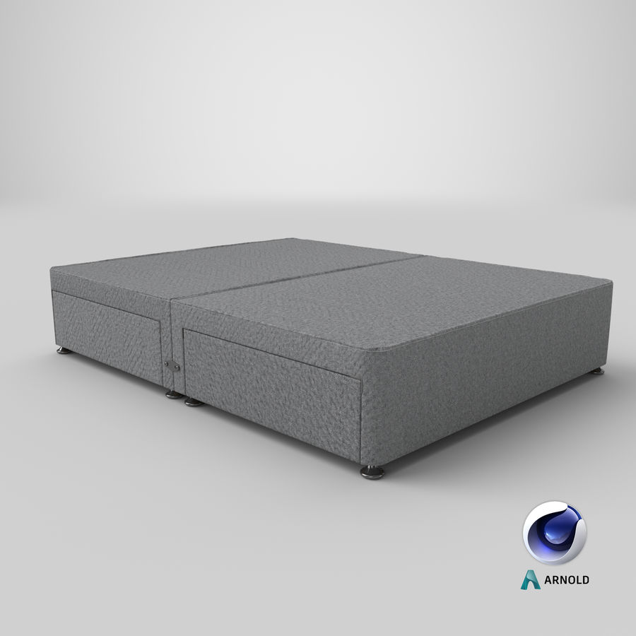 Bed Base 08 Grey royalty-free 3d model - Preview no. 22