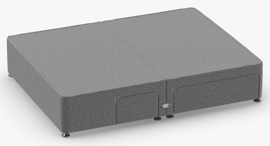 Bed Base 08 Grey royalty-free 3d model - Preview no. 3