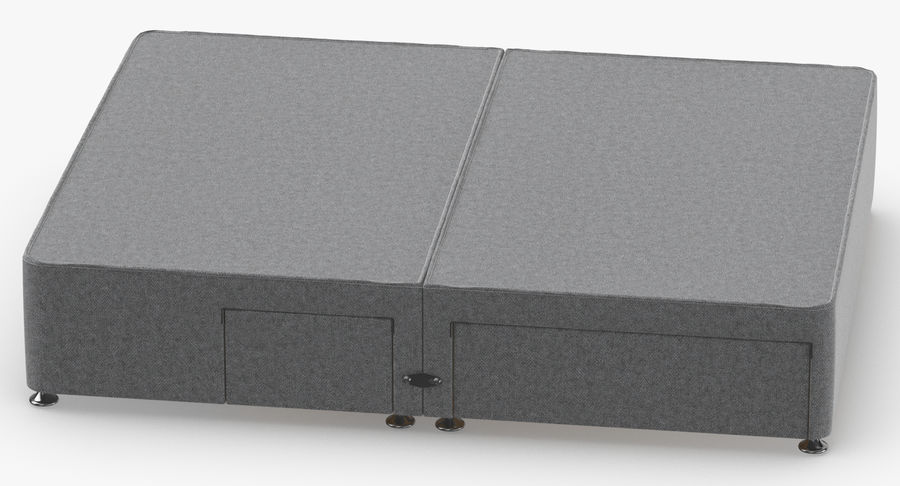 Bed Base 08 Grey royalty-free 3d model - Preview no. 5