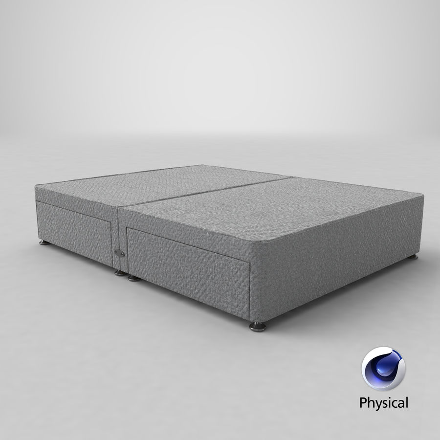 Bed Base 08 Grey royalty-free 3d model - Preview no. 21